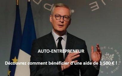 Une aide de 1500 € pour les auto-entrepreneurs !